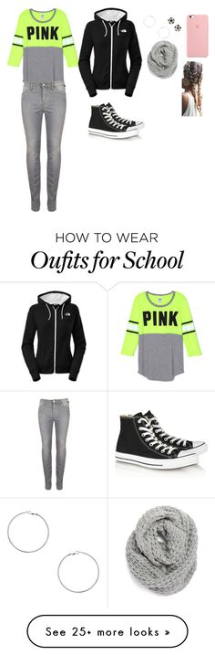 """""""What I am going to wear to School tomorrow"""" by isabelle108 on Polyvore featuring Converse, The North Face, Dorothy Perkins and Halogen"""