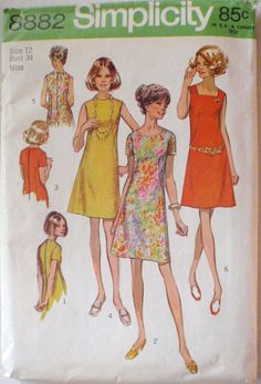 Womens Vintage Sewing Pattern  Shift Dress with by Shelleyville, $8.00