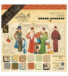 """Graphic 45 Deluxe Collector's Edition Pack 12""""X12""""-Times Nouveau"""