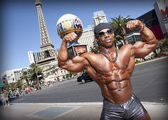 Tricky Jackson, award-winning IFBB Professional Bodybuilder and official spokesman for HGH.com, shows off his beyond buff biceps. https://twitter.com/HGHCom, http://www.trickyjackson.com/, http://www.hgh.com