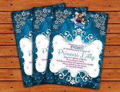 Frozen Themed Invitation - - Printable Digital File from Polkadot Printables Superhero Party Invitations, Superhero Birthday Invitations, Frozen Invitations, Birthday Invitation Templates, Frozen Birthday Party, Frozen Party, 3rd Birthday Parties, Frozen Theme, 3 D
