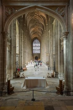 Nave, Canterbury Cathedral, Canterbury, UK by Xavier de Jauréguiberry, via Flickr