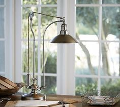 Glendale Pulley Task Table Lamp #potterybarn