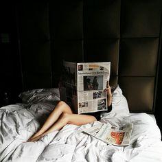 newspaper in bed #weekend #sundaypaper