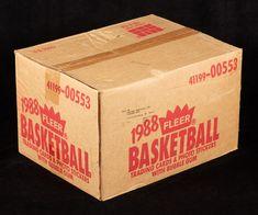 Case of 86-87 Fleer containing up to 40 Jordan rookie cards heading to auction - Michael Jordan Cards Hakeem Olajuwon, Karl Malone, Kareem Abdul Jabbar, Magic Johnson, Larry Bird, Basketball Cards, Michael Jordan, Jordans, Auction