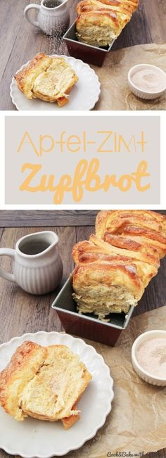 Apple-cinnamon plucked bread - crispy and airy at the same time- Apfel-Zimt-Zupfbrot – kross und luftig zugleich C&B with Andrea – Apple Cinnamon Bread – Recipe – - Brunch Recipes, Sweet Recipes, Breakfast Recipes, Dessert Recipes, Breakfast Muffins, Sweet Breakfast, Cupcake Recipes, Apple Cinnamon Bread, Cinnamon Apples