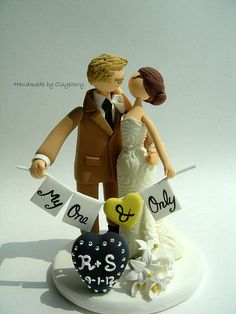 Romantic- Customized wedding cake topper