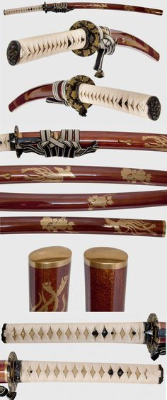 Yes a gold nashiji saya with gold painted crests/animals/flowers is a bit flashy but we need to admire the technique and amount of time that goes into this kind of work. Posted a similar tanto in Aikuchi Koshirae few months ago as well.