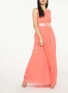 Womens **Showcase Petite Coral Maxi Dress- Coral https://mrfavorite.net/collections/all