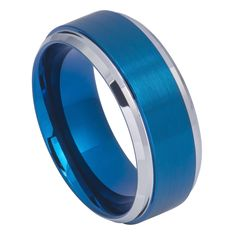 Tungsten Ring Blue IP Brushed Center High Polish Stepped/Beveled Edge 9mm   Shop this product here: http://spreesy.com/elmanjewelry/14   Shop all of our products at http://spreesy.com/elmanjewelry      Pinterest selling powered by Spreesy.com