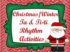 Christmas/Winter Ta & Ti-Ti Rhythm Activities