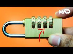 How to crack a combination lock in seconds! - NO TOOLS (life hack) - YouTube