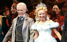 Joel Grey and actress Kristin Chenoweth at opening night