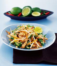 Warm thai chicken salad