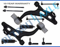 New 10Pc Front Suspension Kit Upper Control Arm Ball