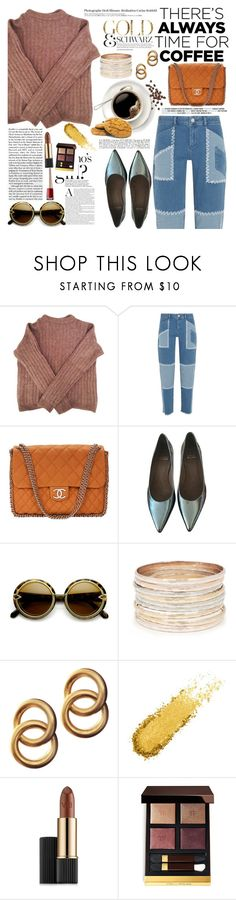 """""""There's always time for coffee"""" by maja15 ❤ liked on Polyvore featuring Une, Acne Studios, House of Holland, Chanel, Stuart Weitzman, Hedi Slimane, Retrò, Laura Lombardi, Estée Lauder and Tom Ford"""