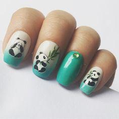 Glitter Emitter: Panda Nails