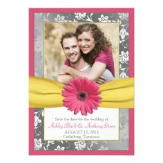 =>quality product          Pink Daisy Grey Yellow Damask Photo Save the Date Custom Invitations           Pink Daisy Grey Yellow Damask Photo Save the Date Custom Invitations We have the best promotion for you and if you are interested in the related item or need more information reviews from ...Cleck Hot Deals >>> http://www.zazzle.com/pink_daisy_grey_yellow_damask_photo_save_the_date_invitation-161060721671222239?rf=238627982471231924&zbar=1&tc=terrest