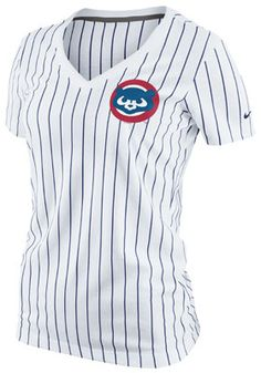 Nike Chicago Cubs Women's Pinstripe Ole Faith T-Shirt