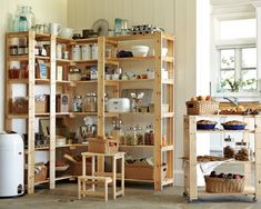Swedish Wood Shelving. Should be able to build this pretty easily??