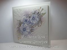 Anita 's Warme Groetjes Poppy Cards, Poppies, Card Making, Sponging, Frame, Stamping, How To Make, Decor, Picture Frame
