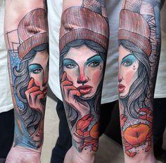 Schwein Elschwino tattoo German, Portrait, Tattoos, Pork, Deutsch, Tatuajes, German Language, Headshot Photography, Tattoo