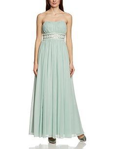 #APART #Fashion #Damen #Empire #Kleid #49733, #Maxi, #Einfarbig, #Gr. #40, #Grün #(JADE) - APART Fashion Damen…