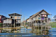Shan House on stilts Inle Lake, Myanmar. Asia. #photo #photographer #photography #getty #images #travel #traveler #inle #inlay #lake #nature #landscape #houseonstilts #colored #burma #asia #shan