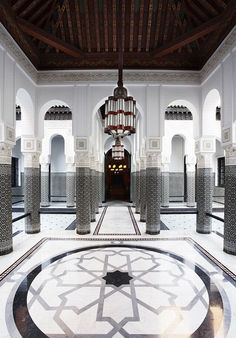 Grand. La Mamounia, Marrakech, designed by Jaques Garcia.