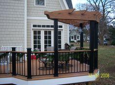 deck railing ideas pictures   ... between Timbertech Radiance rail posts. Timbertech earthwood decking