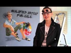 Youtube/ film promocyjny dla Art Pistols Galeria/ Justyna Kisielewicz- Who is the person behind these paintings?