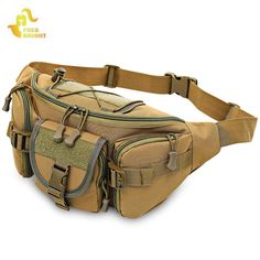 Buy Free Knight Tactical Molle Waist Bag Military Hip Belt Pack - Khaki - and More Sports Bags up to off. Tactical Pouches, Tactical Bag, Waterproof Fanny Pack, Molle Bag, Hunting Bags, Hiking Bag, Waist Pouch, Bag Accessories, Adulting