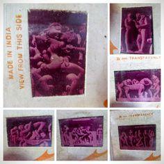35mm Color Slides of Khajuraho India UNESCO Site sexually Explicit sculptures