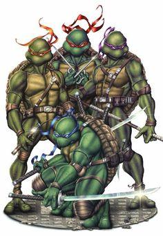 TMNT 30 Year Anniversary Cover - Colors by TracyWong on DeviantArt Ninja Turtles Art, Teenage Mutant Ninja Turtles, Turtles Forever, 90s Cartoons, Comic Books Art, Comic Art, Manga, Disney, Wolverines