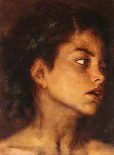 .:. Γύζης Νικόλαος – Gyzis Nikolaos [1842-1901] Ο μικρός Σάτυρος Pre Raphaelite, Greek Art, Western Art, Artist Painting, Portrait Art, All Art, Mythology, Mona Lisa, The Past