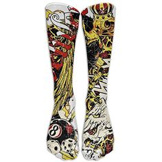 New Tattoo Pattern Knee High Graduated Compression Socks For Women And Men - Best Medical, Nursing, Travel  #TeamSports