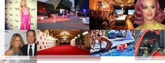 Red Carpet, Step and repeat backdrop rental and installation in Los Angeles. For more information about red carpet rental solutions, go to http://www.redcarpetsystems.com/products-services/red-carpet/