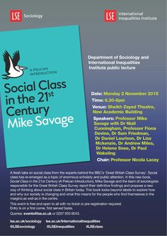 Professor Mike Savage and the team of sociologists behind the Great British Class Survey spoke at LSE on 2 November 2015