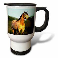 3dRose Quarter Horse, Travel Mug, 14oz, Stainless Steel