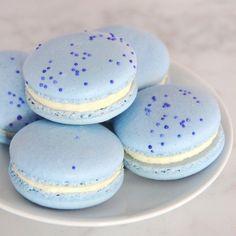 light blue macaroons