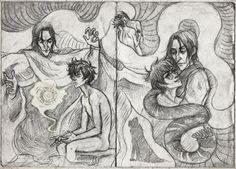 Snarry sketch 2 by Anastasia Mantihora