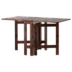 IKEA - ÄPPLARÖ, Gateleg table, outdoor, brown stained brown, 2 folding drop-leaves allow you to adjust the table size according to your needs. Seats Only recommended for outdoor use. Ikea Outdoor, Outdoor Tables, Patio Tables, Dining Tables, Side Tables, Ikea Garden Furniture, Outdoor Dining Furniture, Home Furniture, Antique Furniture