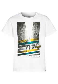 DC Shoes POWERSLIDE - T-shirt imprimé - white - ZALANDO.FR