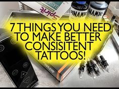YouTube How To Get Better, How To Make, Make Tattoo, Get Well, Consistency, Cool Things To Make, Tattoos, Youtube, Tatuajes