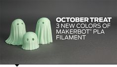 MakerBot PLA Filament is the best, most consistent filament for MakerBot® Replicator® 2 Desktop 3D Printers, and this October, we're adding three new colors to the family.
