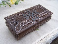 Jewelry box Ring box Wooden box Carved wood box by HappyFlying,