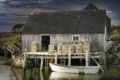 Nova Scotia Photograph - Peggys Cove Fishing Village by Randall Nyhof