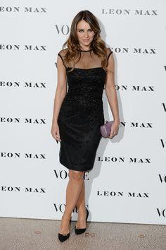 Elizabeth Hurley à la soirée Vogue 100