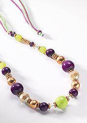 Hippy Necklace~Bohemain 2-Tone Bead and Crystal Necklace Anjuna Hippy Bracelet~Fair Trade By Folio Gothic Hippy NK511