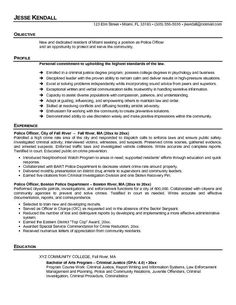 Police Officer Resume Example Police Officer Resume Template Free  Creative Resume Design
